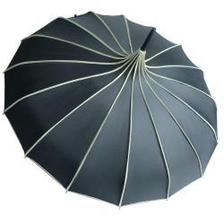 Kung Fu Smith Women Vintage Polka Dots Travel Stick Rain Pagoda Parasol Umbrella