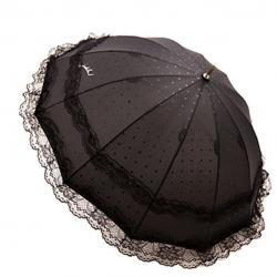 Lace Parasol Umbrella - UV Protection Windproof 12 Steel Umbrella Ribs