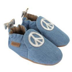 Peace Out Baby Shoes, Soft Soles