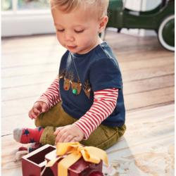 Mini Boden LAYERED ANIMAL FRIENDS T-SHIRT