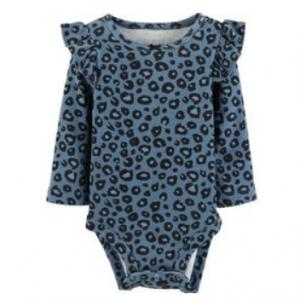 Carter's Leopard Print Flutter Bodysuit