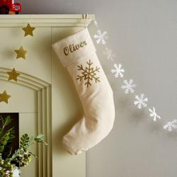 My 1st Years Personalized Snowflake Christmas Stocking
