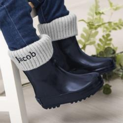 My 1st Years Personalized Navy Wellies & Welly Socks