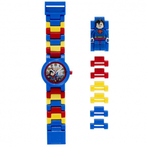 LEGO Watches and Clocks Boy's 'DC Universe Super Heroes Superman Minifigure' Quartz Plastic Casual