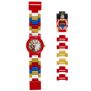 LEGO Watches and Clocks Girl's 'Dc Universe Wonder Woman' Quartz Plastic Casual watchMulti Color (