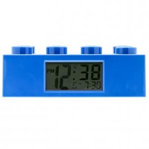 LEGO 9002151 Blue Brick Kids Light Up Alarm Clock   blue   plastic   9.5 inches tall   LCD display