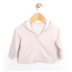 French Terry Knit Jacket, Pink