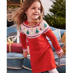Mini Boden FAIR ISLE KNITTED DRESS
