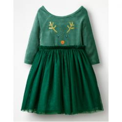 Mini Boden VELVET NOVELTY DRESS