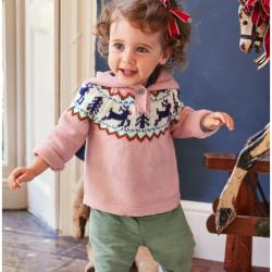 Mini Boden REINDEER FAIR ISLE SWEATER