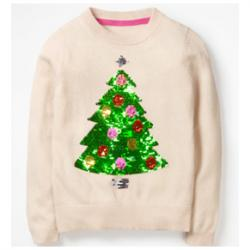 Mini Boden COLOUR-CHANGE TREE SWEATER