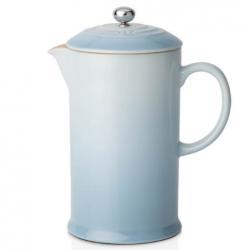 Le Creuset Stoneware Cafetiere Coffee Press - Coastal Blue