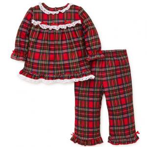 Little Me Baby Girl's Two-Piece Plaid Pajama Set