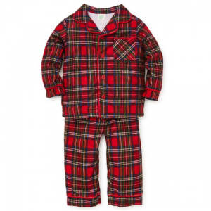 Little Me Little Boy's Two-Piece Tartan Plaid Pajama Top & Pants Set