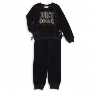 Juicy Couture Little Girl's Two-Piece Velour Set