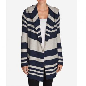 Women's Hooded Sleep Cardigan - Stripe