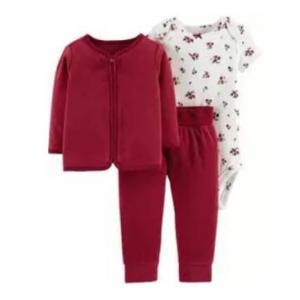 3-Piece Fleece Cardigan Set