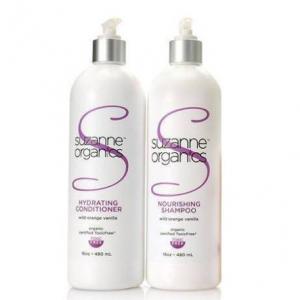 SUZANNE Organics Salon Size Wild Orange Vanilla Nourishing Shampoo and Hydrating Conditioner Combo