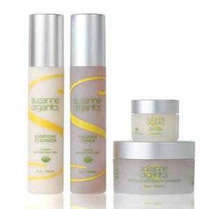 SUZANNE Organics 4‑Piece Skincare Kit