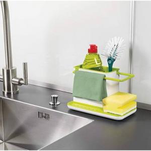 Joseph Joseph 85021 Sink Caddy Kitchen Sink Organizer Sponge Holder Dishwasher-Safe, Regular, Gree