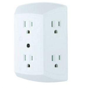 $5.16 GE 6 Outlet Wall Plug Adapter Power Strip @ Amazon.com