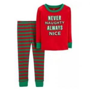 2-Piece Toddler Christmas Snug Fit Cotton PJs