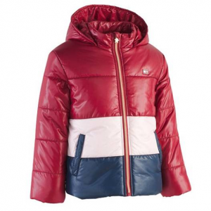 Tommy Hilfiger Big Girls Hooded Colorblocked Puffer Jacket