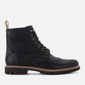 Clarks Men's Batcombe Lord Leather Brogue Lace Up Boots