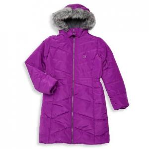 Calvin Klein Girl's Aerial Faux Fur Puffer Jacket