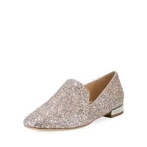 Jimmy Choo Jaida Flat Speckled Glitter Loafer