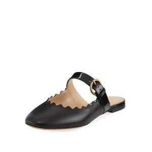 Chloe Lauren Flat Leather Mary Jane Slide
