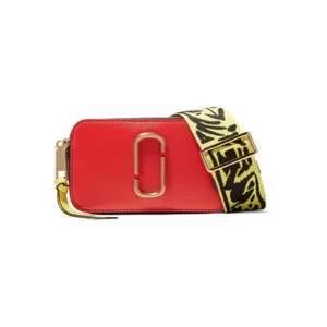 MARC JACOBS Snapshot color-block textured-leather shoulder bag