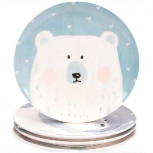 $6.99 Mainstays Round Polar Bear Appetizer Plate, 4 Pack @ Walmart