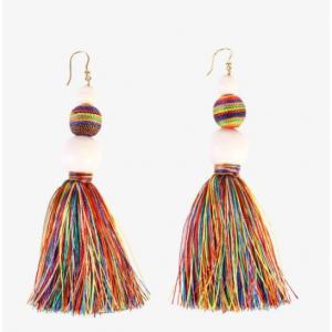 ROSANTICA Cotton tassels earrings