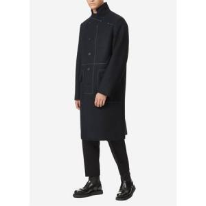 JIL SANDER Rotterdam Contrast Stitch Coat