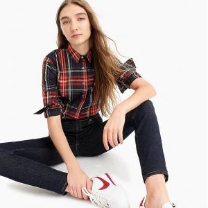 Slim stretch perfect shirt in Stewart tartan