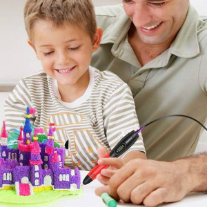 DigiHero Toys for Kids 3D Pen with 1.75mm PLA Filament Pack of 12 Different Colors @ Amazon