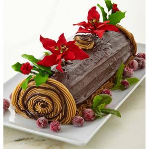 Frosted Art Bakery Buche de Noel Cake, For 12-24 People