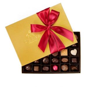 Godiva Chocolatier 36-Piece Holiday Gold Ballotin Assorted Chocolates Box