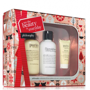 See the beauty in every day cleanse & moisturize gift set