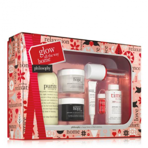 Glow all the way home anti-aging skin care gift set