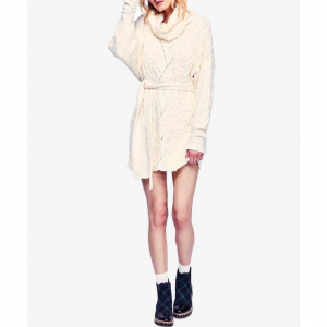 Free People For The Love Of Cables Sweater Dress