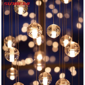 LED Pendant Stair Lights Loft Coffee Bedroom Lighting lustres e pendentes para sala de jantar Mode