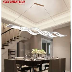 Novelty led Pendant Light for Kitchen Dining Room White Pendant Lamp for Coffee House Bedroom Susp