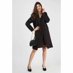 Double Breasted Long Sleeve Coat
