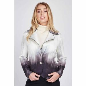 Encrusted Mixed Print Neoprene Jacket