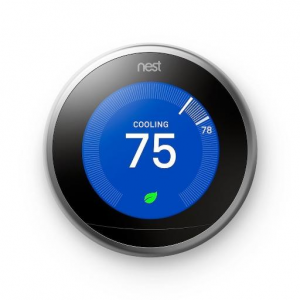 Nest Learning Thermostat 3rd Generation Smart Home with Wifi Remote Control Stainless Steel @MassG