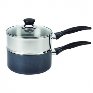 $14.43 T-fal B1399663 Stainless Steel Double Boiler with Phenolic Handle Cookware@Amazon.com