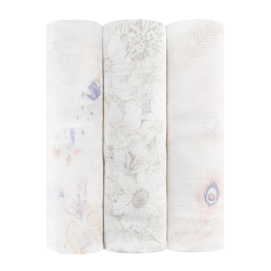 """aden + anais 47"""" silky soft swaddle set 3-pack"""