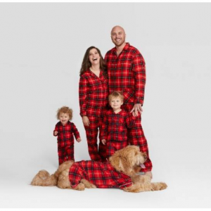 Holiday Red Plaid Notch Collar Family Pajamas Collection - Wondershop™